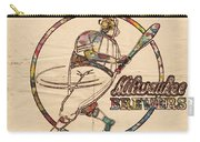 Milwaukee Brewers Vintage Art Carry-all Pouch