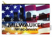 Milwaukee Wi Patriotic Large Cityscape Carry-all Pouch