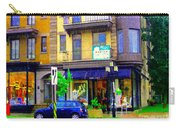 Mimi And Coco Clothing Boutique Laurier In The Rain  Plateau Montreal City Scenes Carole Spandau Art Carry-all Pouch