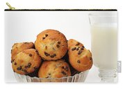 Mini Chocolate Chip Muffins And Milk - Bakery - Snack - Dairy - 3 Carry-all Pouch