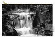 Mini Falls Black And White Carry-all Pouch