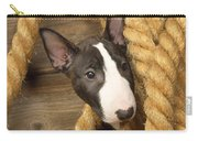 Miniature Bull Terrier Puppy Carry-all Pouch