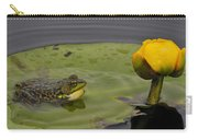 Mink Frog On Lilypad  Carry-all Pouch