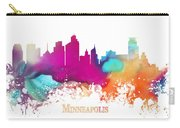 Minneapolis City Colored Skyline Carry-all Pouch