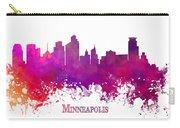 Minneapolis City Skyline Purple Carry-all Pouch