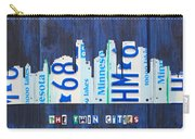 Minneapolis Minnesota City Skyline License Plate Art The Twin Cities Carry-all Pouch