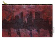 Minneapolis Skyline Brick Wall Mural Carry-all Pouch