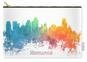Minneapolis Skyline Colored Carry-all Pouch