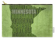 Minnesota Word Art State Map On Canvas Carry-all Pouch