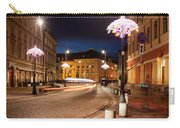Miodowa Street In Warsaw At Night Carry-all Pouch