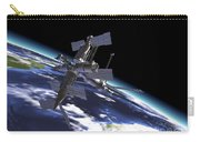 Mir Russian Space Station In Orbit Carry-all Pouch by Leonello Calvetti
