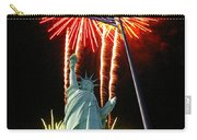 Miss Liberty And Fireworks Carry-all Pouch