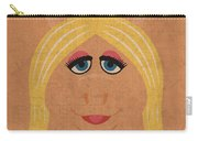 Miss Piggy Vintage Minimalistic Illustration On Worn Distressed Canvas Series No 011 Carry-all Pouch