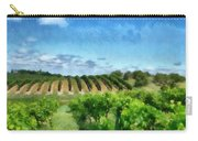 Mission Peninsula Vineyard Ll Carry-all Pouch by Michelle Calkins