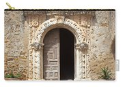 Mission San Jose Chapel Entry Doorway Carry-all Pouch by John Stephens