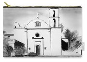 Mission San Luis Rey Bw Blue Carry-all Pouch by Kip DeVore