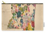 Mississippi Map Vintage Watercolor Carry-all Pouch