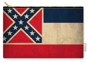 Mississippi State Flag Art On Worn Canvas Carry-all Pouch