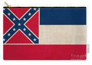 Mississippi State Flag Carry-all Pouch by Pixel Chimp
