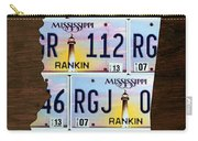 Mississippi State License Plate Map Art Carry-all Pouch