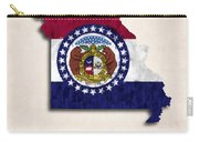 Missouri Map Art With Flag Design Carry-all Pouch