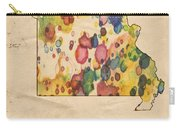 Missouri Map Vintage Watercolor Carry-all Pouch