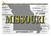 Missouri State Pride Map Silhouette  Carry-all Pouch