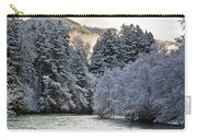 Mist And Snow On Trees Carry-all Pouch