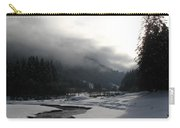 Mist Over A Snowy Valley Carry-all Pouch