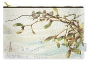 Mistletoe In The Snow Carry-all Pouch by English School
