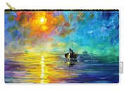Misty Calm - Palette Knife Oil Painting On Canvas By Leonid Afremov Carry-all Pouch