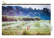 Misty Field In Blue Ridge Mountain Farmlands Carry-all Pouch