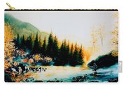 Misty Fishing Morning Carry-all Pouch