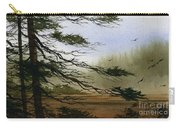 Misty Forest Bay Carry-all Pouch by James Williamson