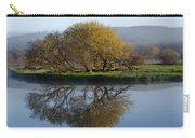Misty Golden Sunrise Reflection Carry-all Pouch by Christina Rollo