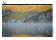 Misty Lake With Aspen Trees Carry-all Pouch