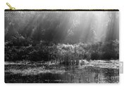 Misty Marsh - Black And White Carry-all Pouch