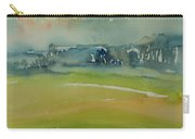 Misty Morning, 1981 Wc On Paper Carry-all Pouch