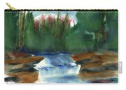 Misty Morning Brook In Hudson Valley Carry-all Pouch