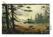 Misty Tideland Forest Carry-all Pouch by James Williamson