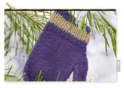 Mitten In Snowy Pine Tree Carry-all Pouch