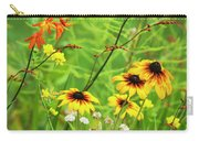 Mixed Flowers Bloom In A Garden Carry-all Pouch