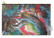 Mobie Joe The Whale-original Abstract Whale Painting Acrylic Blue Red Green Carry-all Pouch