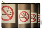 Mobile Photography Toned Row Of No Smoking Signs Carry-all Pouch