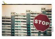 Mobile Photography Toned Stop Sign And Condo Units Carry-all Pouch