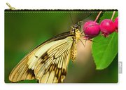 Mocker Swallowtail Butterfly And Berries Carry-all Pouch