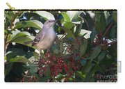 Mocking Bird And Berries Carry-all Pouch