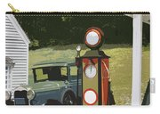 Model A Ford And Old Gas Station Illustration  Carry-all Pouch