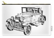 Model A Ford Roadster Antique Car Illustration Carry-all Pouch