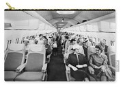 Model Of Boeing 707 Cabin Carry-all Pouch by Underwood Archives
